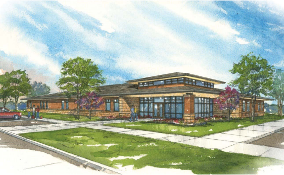 Artist drawing of the proposed new O'Neill Campus - NECC