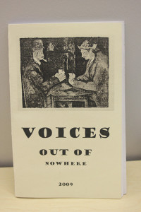 "NECC Student Literature Publication ""Voices Out Of Nowhere"" 2009"